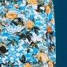 vestido azul evase estampado tata martello ta118055 frente baixo detalhe