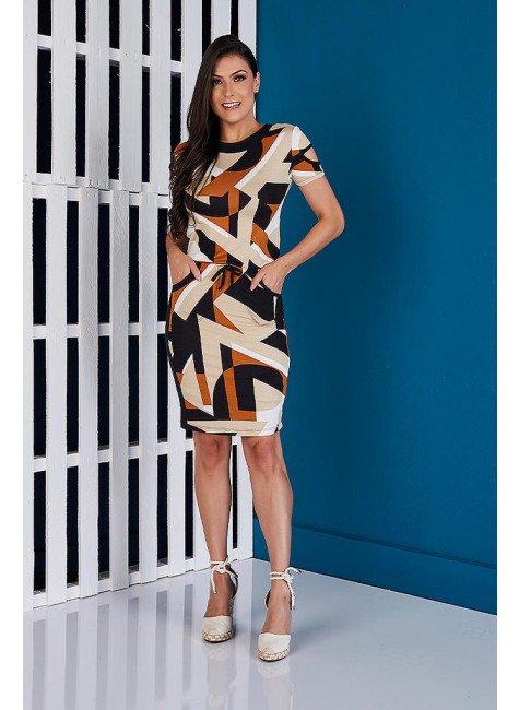 vestido preto estampas geometricas tata martello ta333041 frente