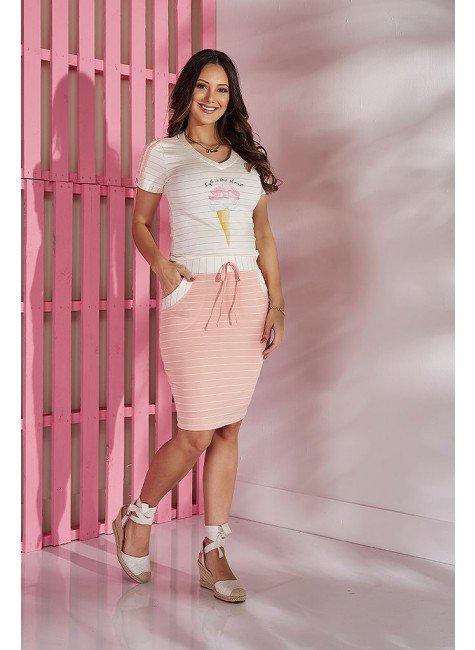 conjunto rosa claro sorvete tata martello tm5398rs frente
