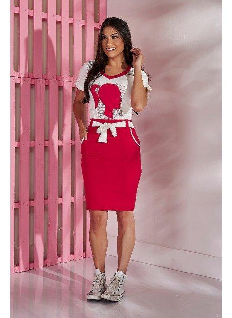 conjunto vermelho barbie tata martello tm5084v frente