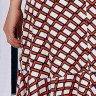 vestido transpassado estampas geometricas azul marinho tata martello ta721118 costas baixo detalhe