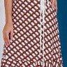 vestido transpassado estampas geometricas azul marinho tata martello ta721118 frente baixo