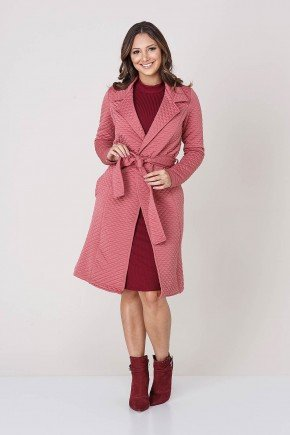 casaco rose em matelasse tata martello frente tm4169