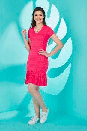 vestido sino pink em viscolycra tata martello ta750825 frente