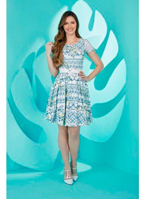 vestido gode estampado lady like tata martello ta290813 frente