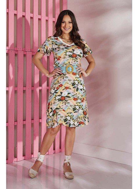 vestido floral branco com babados tata martello tm5157br frente