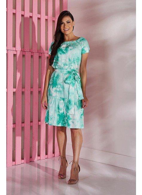 vestido verde estampa tiedye tata martello tm5214v frente