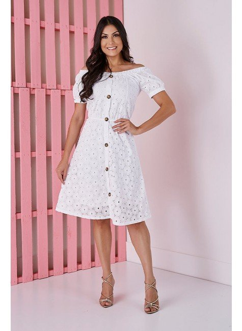 vestido gode branco em lesie tata martello tm5238br frente