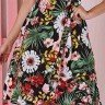 vestido transpassado preto estampa floral tata martello 5205pt frente baixo