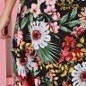 vestido transpassado preto estampa floral tata martello 5205pt costas baixo detalhe