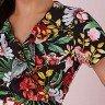 vestido transpassado preto estampa floral tata martello 5205pt frente cima detalhe