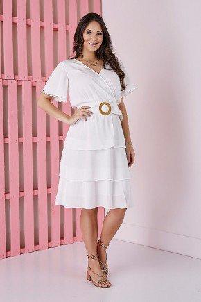 vestido transpassado viscolinho babados branco tata martello ta242474 frente