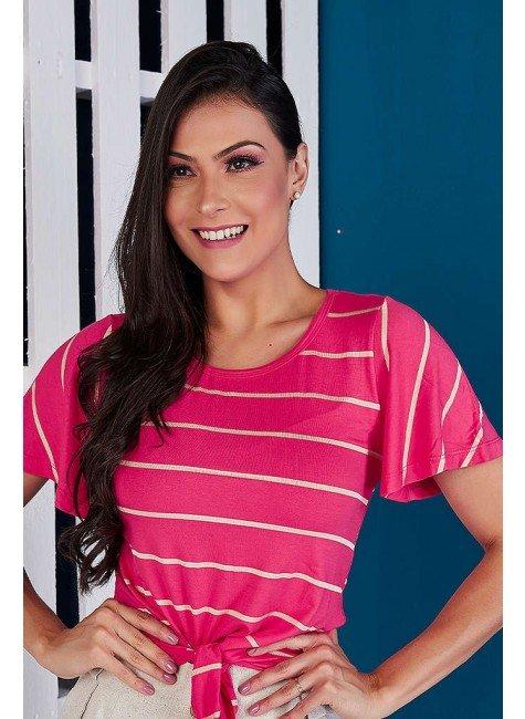 blusa pink listrada com amarracao tata martello ta928620 frente