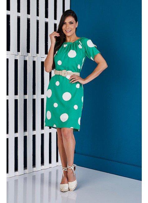 vestido reto verde poas tata martello ta140137 frente