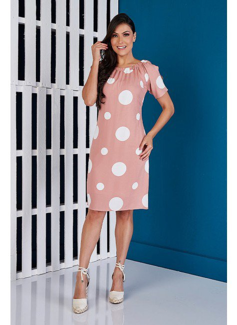vestido reto rose poas tata martello ta373979 frente
