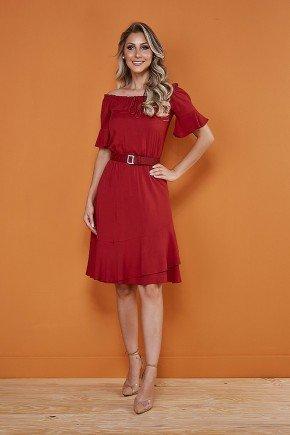 vestido vermelho ombro a ombro tata martello 6026vm frente