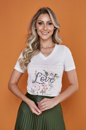 t shirt off white love tata martello 5247love frente cima