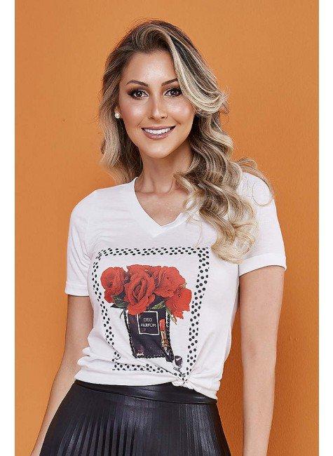 t shirt estampa rosas tata martello 5247ros frente cima